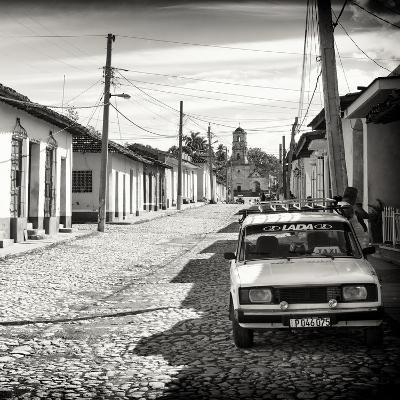 Cuba Fuerte Collection SQ BW - Cuban Street Scene in Trinidad-Philippe Hugonnard-Photographic Print