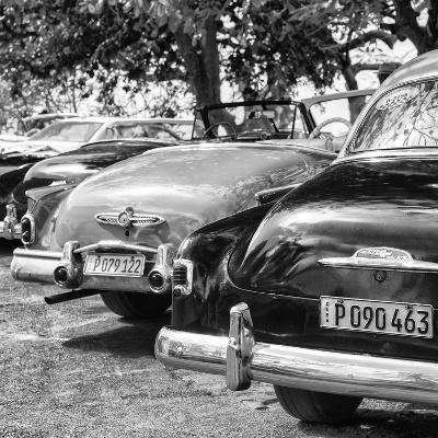 Cuba Fuerte Collection SQ BW - Havana Vintage Classic Cars II-Philippe Hugonnard-Photographic Print