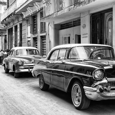 Cuba Fuerte Collection SQ BW - Old Cars Chevrolet-Philippe Hugonnard-Photographic Print