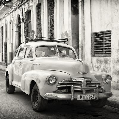Cuba Fuerte Collection SQ BW - Old Chevrolet in Havana-Philippe Hugonnard-Photographic Print