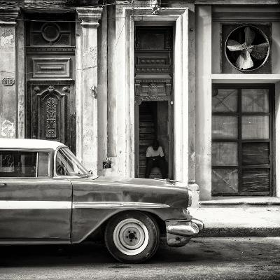Cuba Fuerte Collection SQ BW - Old Classic American Car-Philippe Hugonnard-Photographic Print