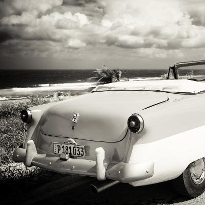 Cuba Fuerte Collection SQ BW - Old Classic Car Cabriolet-Philippe Hugonnard-Photographic Print