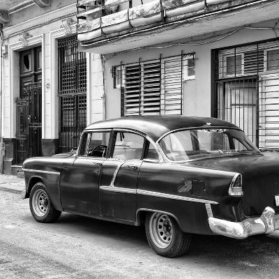 Cuba Fuerte Collection SQ BW - Old Cuban Car II-Philippe Hugonnard-Photographic Print