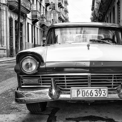 Cuba Fuerte Collection SQ BW - Old Ford Car II-Philippe Hugonnard-Photographic Print