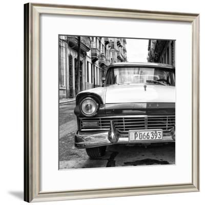 Cuba Fuerte Collection SQ BW - Old Ford Car II-Philippe Hugonnard-Framed Photographic Print