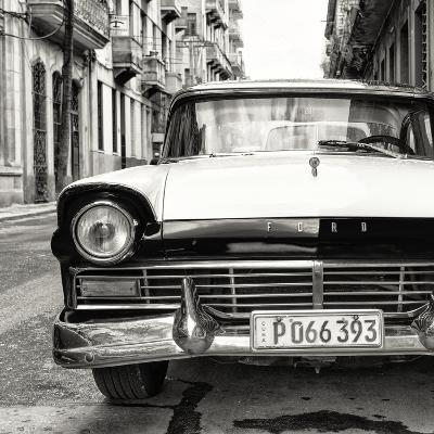 Cuba Fuerte Collection SQ BW - Old Ford Car-Philippe Hugonnard-Photographic Print