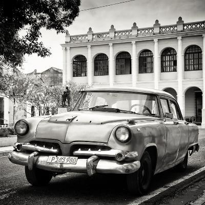 Cuba Fuerte Collection SQ BW - Retro Car in the Street-Philippe Hugonnard-Photographic Print