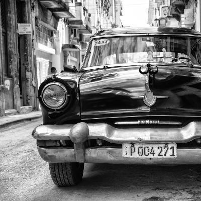 Cuba Fuerte Collection SQ BW - Taxi of Havana II-Philippe Hugonnard-Photographic Print
