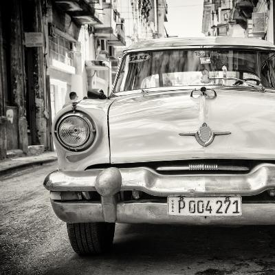 Cuba Fuerte Collection SQ BW - Taxi of Havana-Philippe Hugonnard-Photographic Print