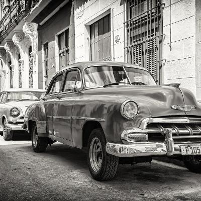 Cuba Fuerte Collection SQ BW - Two Chevrolet Cars-Philippe Hugonnard-Photographic Print