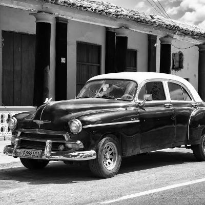 Cuba Fuerte Collection SQ BW - Vintage Black Car-Philippe Hugonnard-Photographic Print