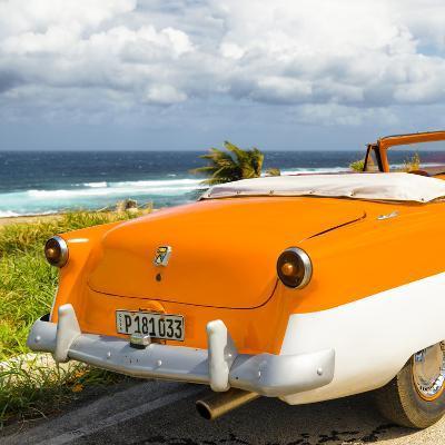 Cuba Fuerte Collection SQ - Classic Orange Car Cabriolet-Philippe Hugonnard-Photographic Print