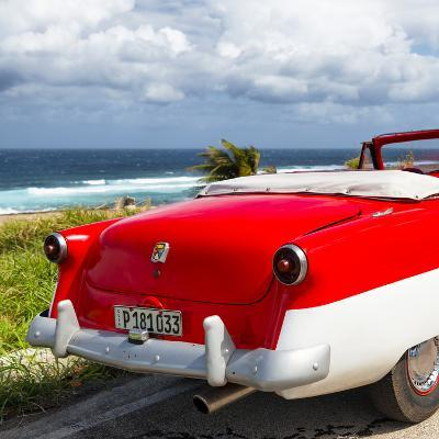 Cuba Fuerte Collection SQ - Classic Red Car Cabriolet-Philippe Hugonnard-Photographic Print