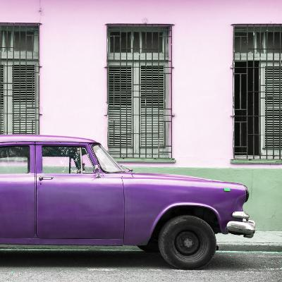 Cuba Fuerte Collection SQ - Close-up of Purple Car-Philippe Hugonnard-Photographic Print