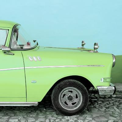 Cuba Fuerte Collection SQ - Close-up of Retro Lime Green Car-Philippe Hugonnard-Photographic Print