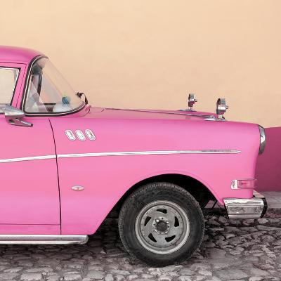 Cuba Fuerte Collection SQ - Close-up of Retro Pink Car-Philippe Hugonnard-Photographic Print