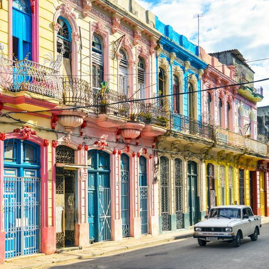 Cuba Fuerte Collection SQ - Colorful Facades in Havana-Philippe Hugonnard-Photographic Print