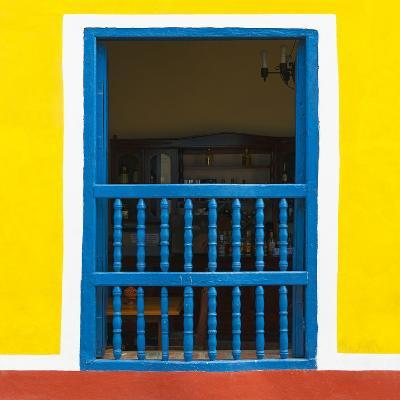 Cuba Fuerte Collection SQ - Colorful Window-Philippe Hugonnard-Photographic Print