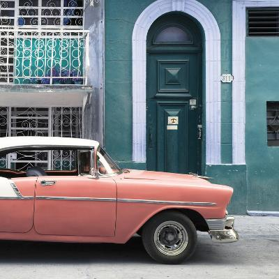 Cuba Fuerte Collection SQ - Coral Classic Car in Havana-Philippe Hugonnard-Photographic Print