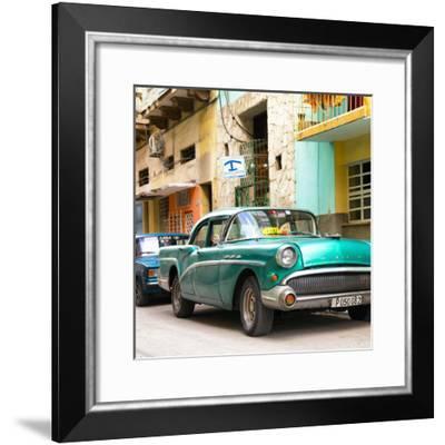 Cuba Fuerte Collection SQ - Cuban Taxi to Havana II-Philippe Hugonnard-Framed Photographic Print