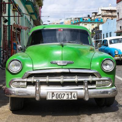 Cuba Fuerte Collection SQ - Green Chevy-Philippe Hugonnard-Photographic Print