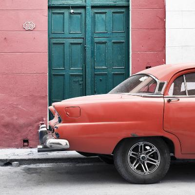 Cuba Fuerte Collection SQ - Havana 109 Street Orange-Philippe Hugonnard-Photographic Print