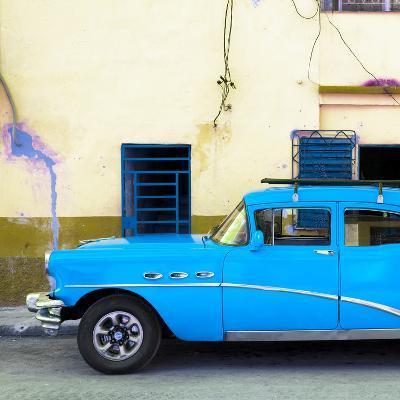 Cuba Fuerte Collection SQ - Havana Classic American Blue Car-Philippe Hugonnard-Photographic Print
