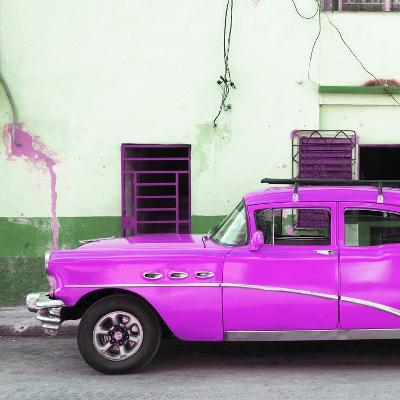 Cuba Fuerte Collection SQ - Havana Classic American Hot Pink Car-Philippe Hugonnard-Photographic Print