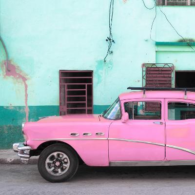 Cuba Fuerte Collection SQ - Havana Classic American Pink Car-Philippe Hugonnard-Photographic Print