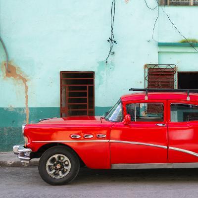 Cuba Fuerte Collection SQ - Havana Classic American Red Car-Philippe Hugonnard-Photographic Print