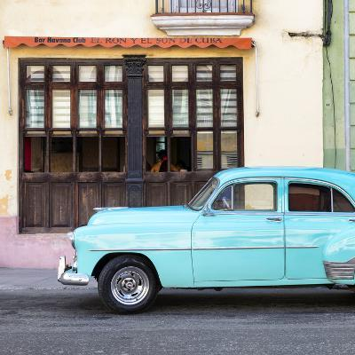 Cuba Fuerte Collection SQ - Havana Club and Blue Classic Car-Philippe Hugonnard-Photographic Print