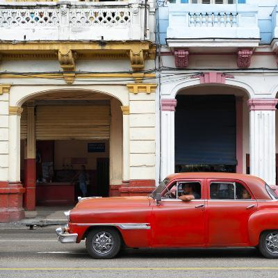 Cuba Fuerte Collection SQ - Havana Red Car-Philippe Hugonnard-Photographic Print