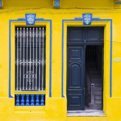 Cuba Fuerte Collection SQ - Havana Yellow Façade-Philippe Hugonnard-Photographic Print