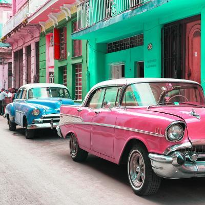 Cuba Fuerte Collection SQ - Old Cars Chevrolet Pink and Blue-Philippe Hugonnard-Photographic Print