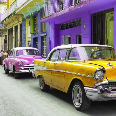 Cuba Fuerte Collection SQ - Old Cars Chevrolet Yellow and Pink-Philippe Hugonnard-Photographic Print