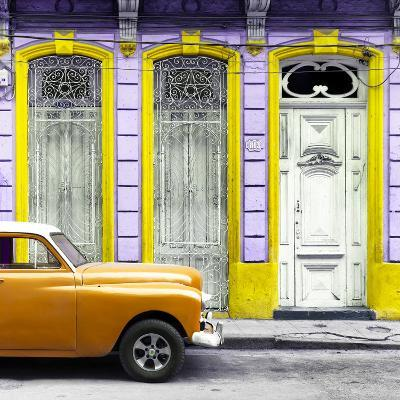 Cuba Fuerte Collection SQ - Orange Vintage Car in Havana II-Philippe Hugonnard-Photographic Print