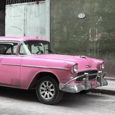 Cuba Fuerte Collection SQ - Pink Chevy-Philippe Hugonnard-Photographic Print