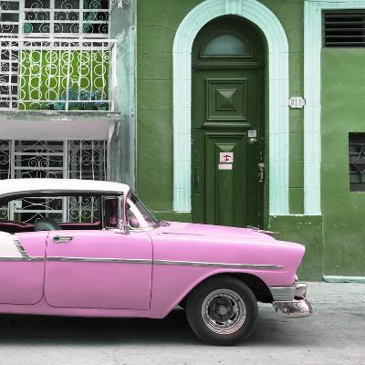 Cuba Fuerte Collection SQ - Pink Classic Car in Havana-Philippe Hugonnard-Photographic Print