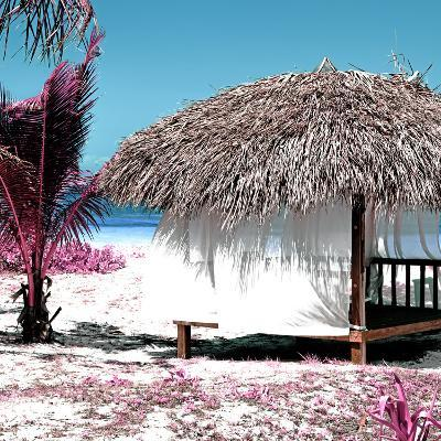 Cuba Fuerte Collection SQ - Pink Paradise Beach Hut-Philippe Hugonnard-Photographic Print