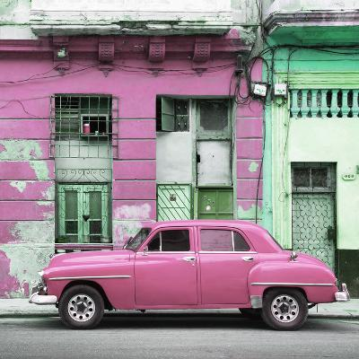 Cuba Fuerte Collection SQ - Pink Vintage American Car in Havana-Philippe Hugonnard-Photographic Print