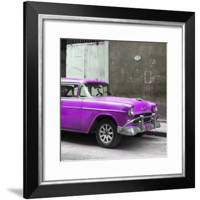 Cuba Fuerte Collection SQ - Purple Chevy-Philippe Hugonnard-Framed Photographic Print