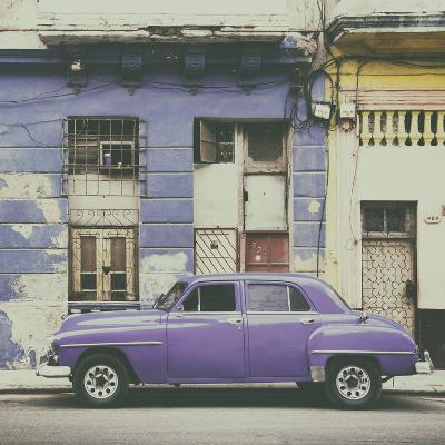 Cuba Fuerte Collection SQ - Purple Vintage American Car in Havana-Philippe Hugonnard-Photographic Print