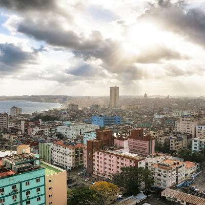 Cuba Fuerte Collection SQ - Rays of light on Havana-Philippe Hugonnard-Photographic Print