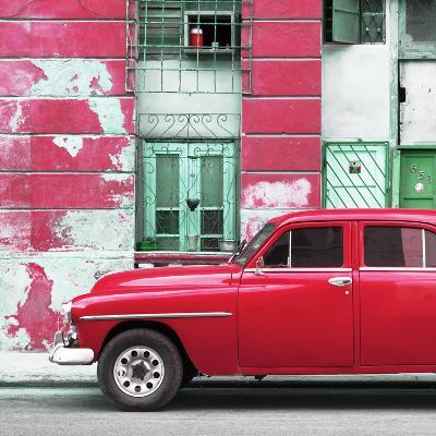 Cuba Fuerte Collection SQ - Red Classic American Car-Philippe Hugonnard-Photographic Print