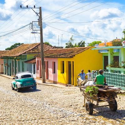 Cuba Fuerte Collection SQ - Trinidad Street Scene II-Philippe Hugonnard-Photographic Print