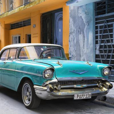Cuba Fuerte Collection SQ - Turquoise Chevrolet Cuban-Philippe Hugonnard-Photographic Print
