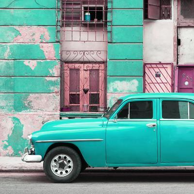 Cuba Fuerte Collection SQ - Turquoise Classic American Car-Philippe Hugonnard-Photographic Print