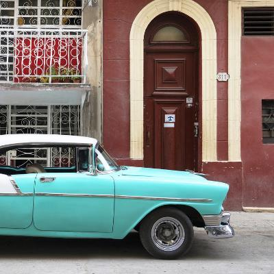 Cuba Fuerte Collection SQ - Turquoise Classic Car in Havana-Philippe Hugonnard-Photographic Print