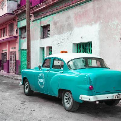 Cuba Fuerte Collection SQ - Turquoise Taxi Pontiac 1953-Philippe Hugonnard-Photographic Print