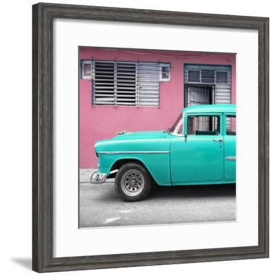 Cuba Fuerte Collection SQ - Vintage Cuban Turquoise Car-Philippe Hugonnard-Framed Photographic Print